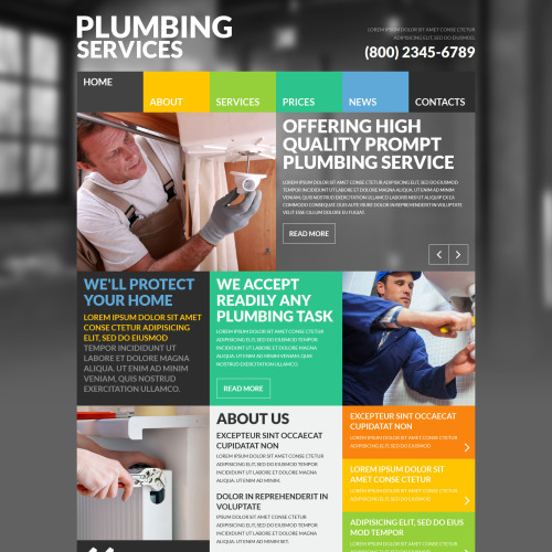 Plumbing Services - Joomla! Template based on Bootstrap