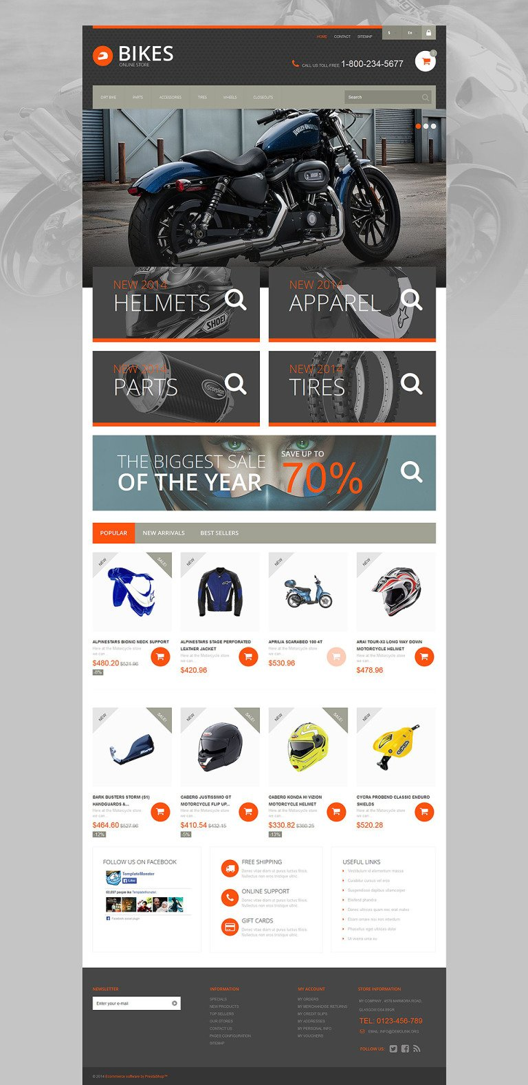 Speedy Ride PrestaShop Theme New Screenshots BIG