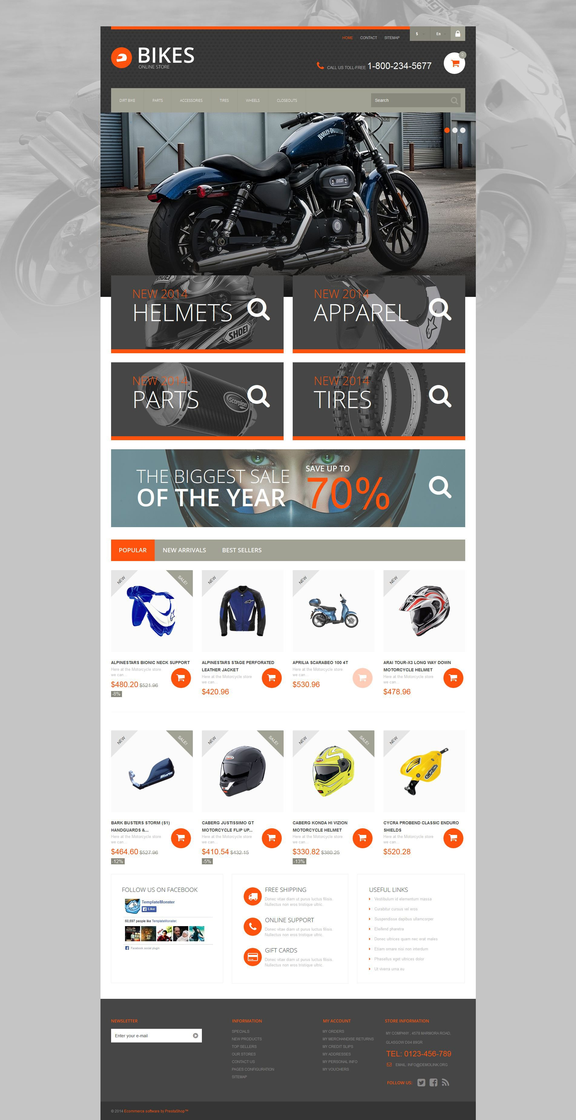 Speedy Ride PrestaShop Theme
