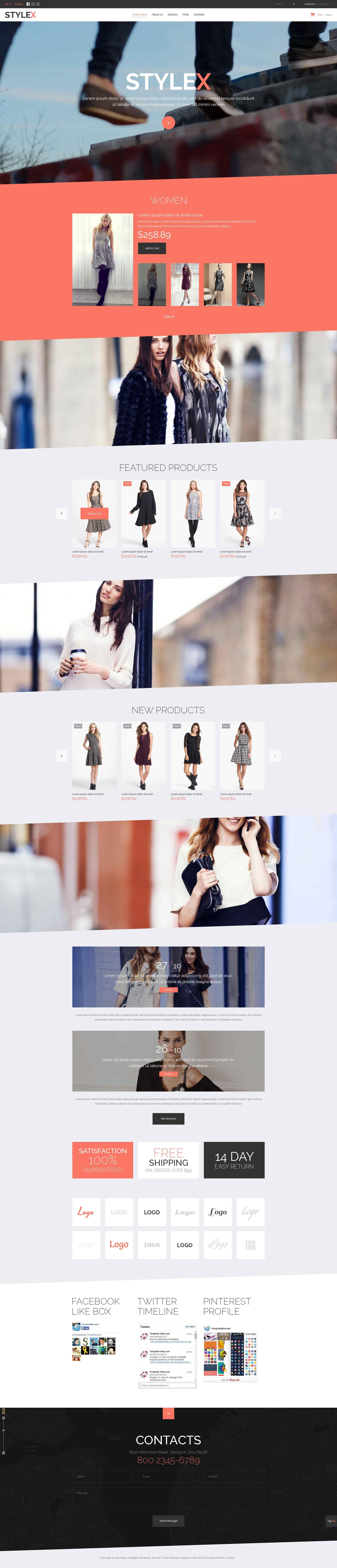 Szablon VirtueMart #52127 na temat: sklep modowy - zrzut ekranu