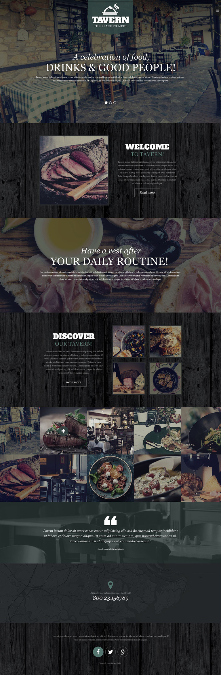 Tapas Restaurant Responsive Website Template New Screenshots BIG