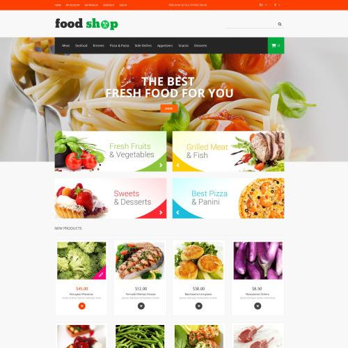 Food Shop - Responsive Magento Template