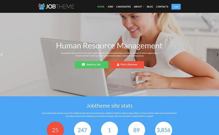Tema de WordPress #52112 para Sitio de Portal de Empleo