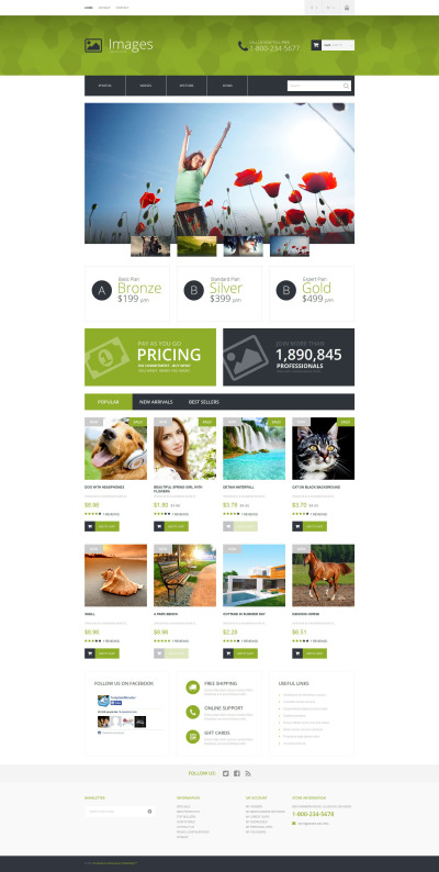 Stock Photo Responsive Tema PrestaShop