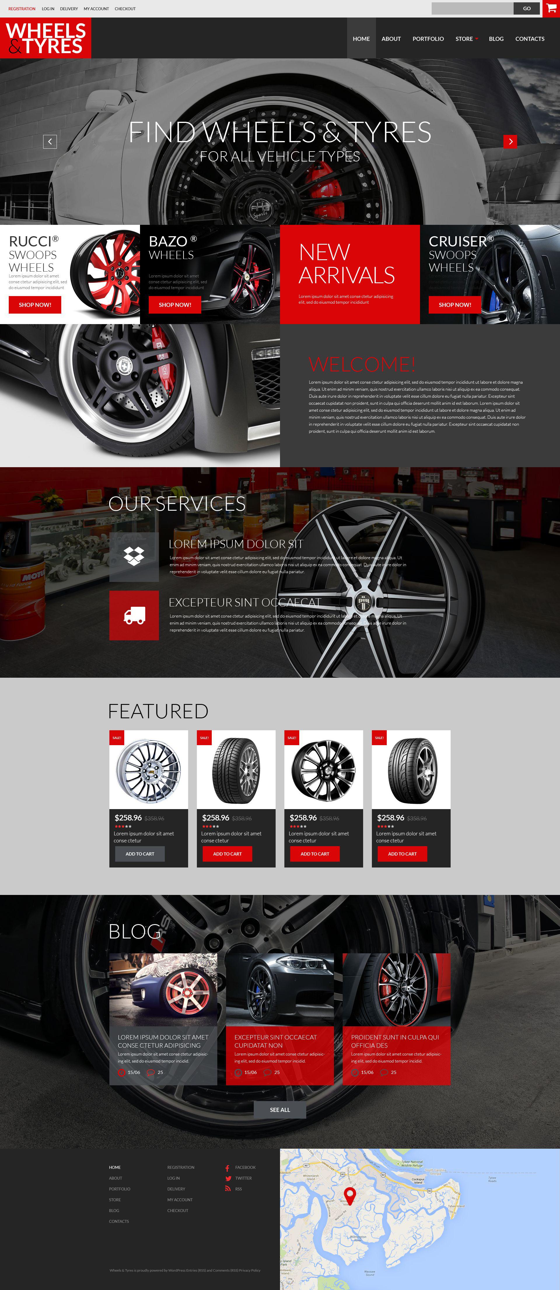 """Tema WooCommerce """"Car Parts  Accessories"""" #52145 - captura de pantalla"""