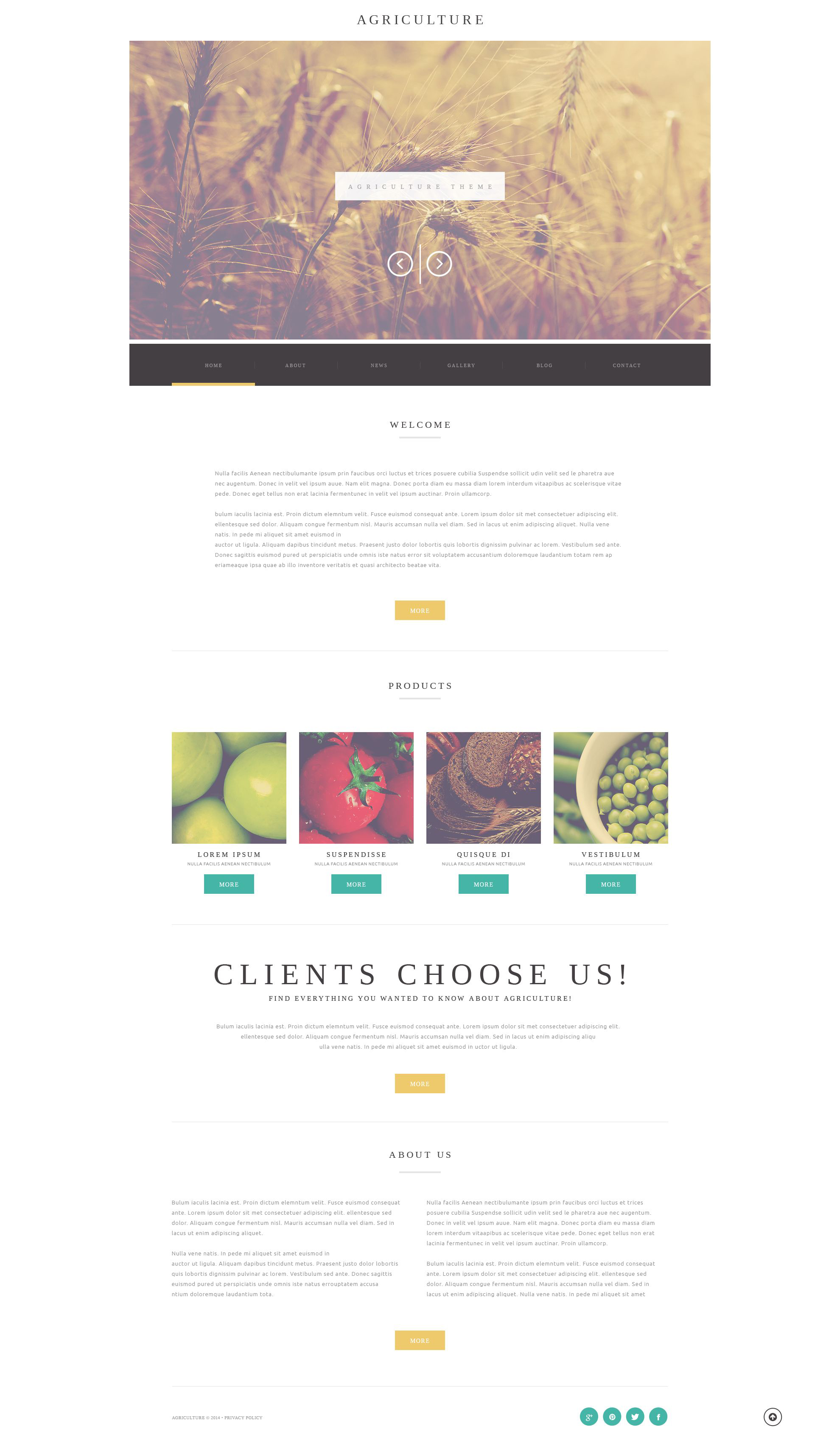 "Tema WordPress Responsive #52173 ""Agriculture Business"""