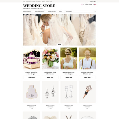 Wedding Shop Tema ZenCart