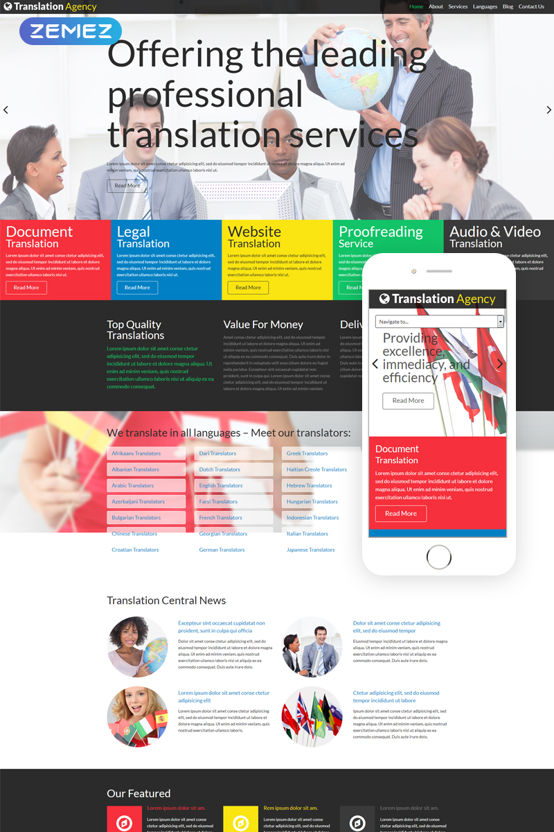 Translation Agency Modern Joomla Template - screenshot