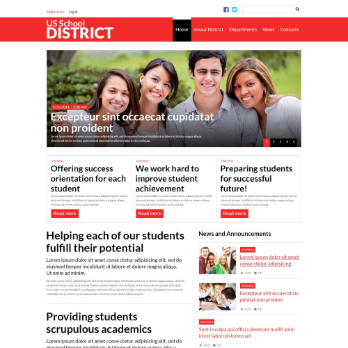 Us School District  - Joomla! Template based on Bootstrap