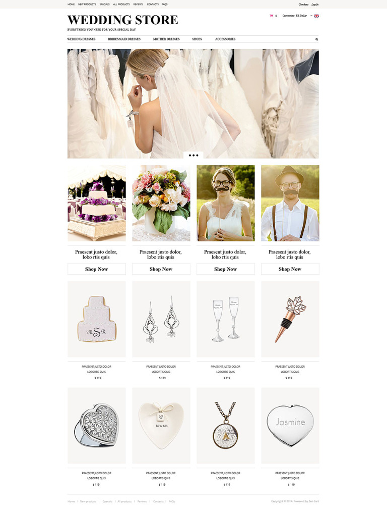 Wedding Planning ZenCart Template New Screenshots BIG