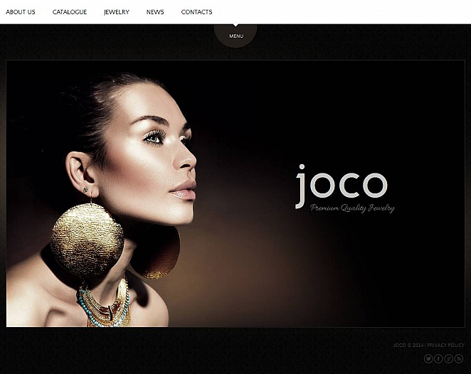 Jewelry Website Template with Shining Background - image