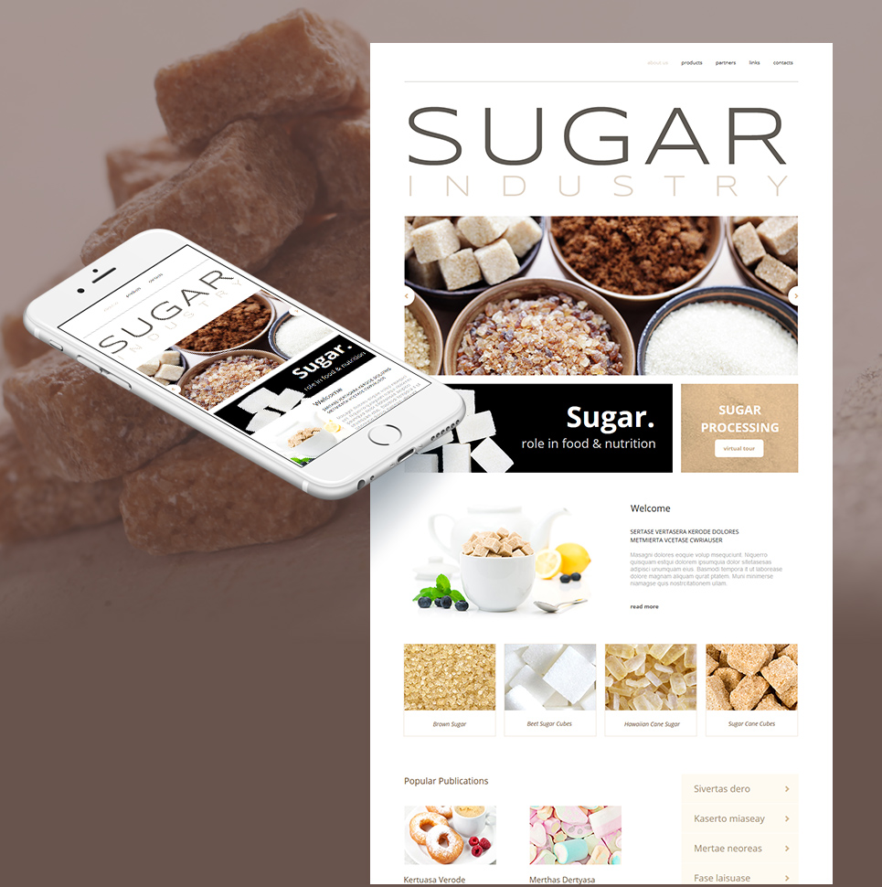 Sugar Refinery Website Template with Image Background - image