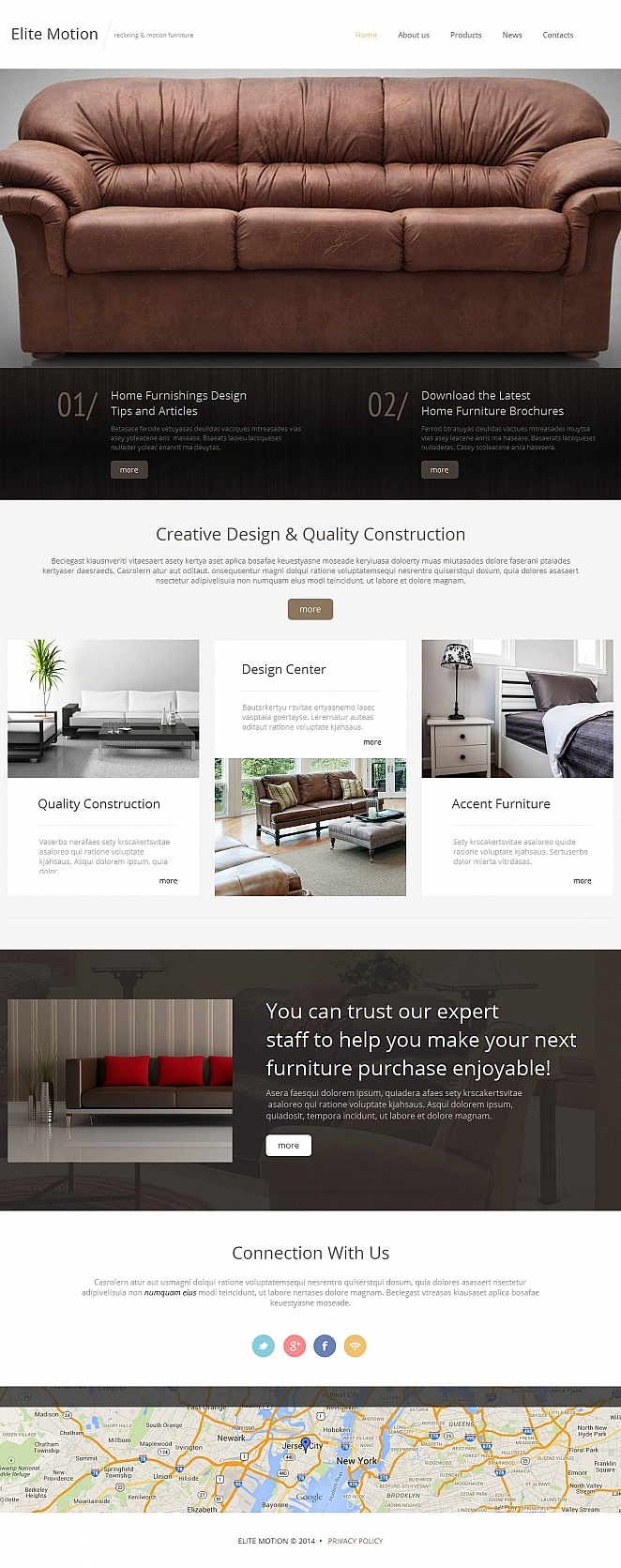 Reclining Furniture Website Template with Black and White Design - image