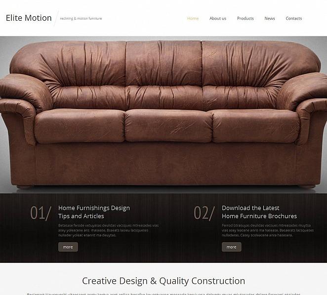 Premium Moto CMS HTML Template over Meubels  New Screenshots BIG