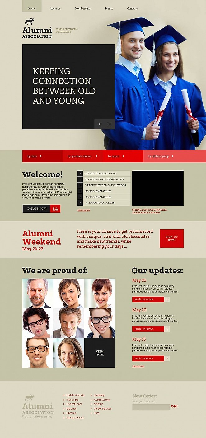 Education Website Template with Large Hero Image - image