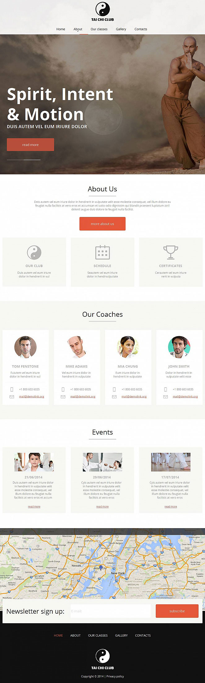 Tai Chi Website Template with Minimalist Design - image