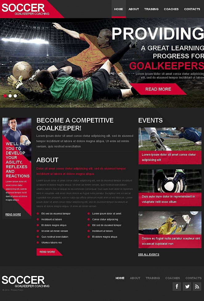 Sports Website Template for Soccer Team - image