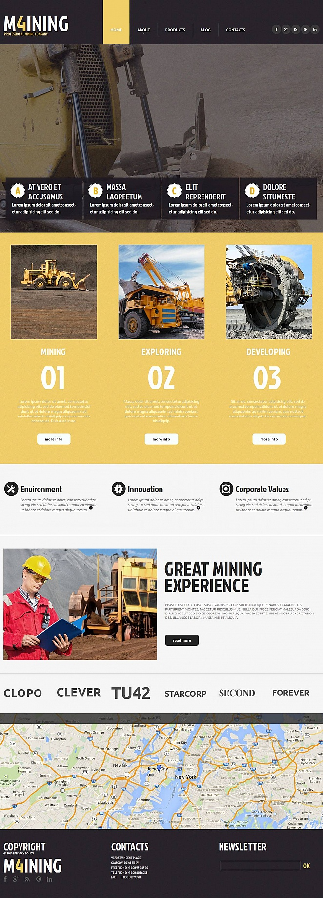 Industrial Website Template with Creative Design - image