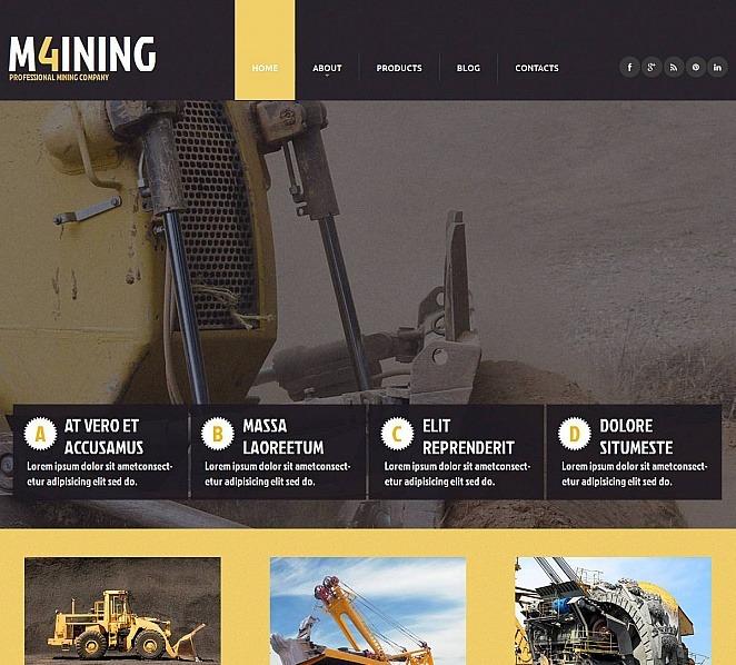 Modello Moto CMS HTML  #52217 per Un Sito di Compagnia Mineraria New Screenshots BIG
