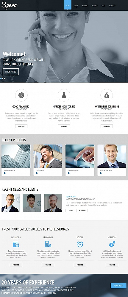 ADOBE Photoshop Template 52221 Home Page Screenshot