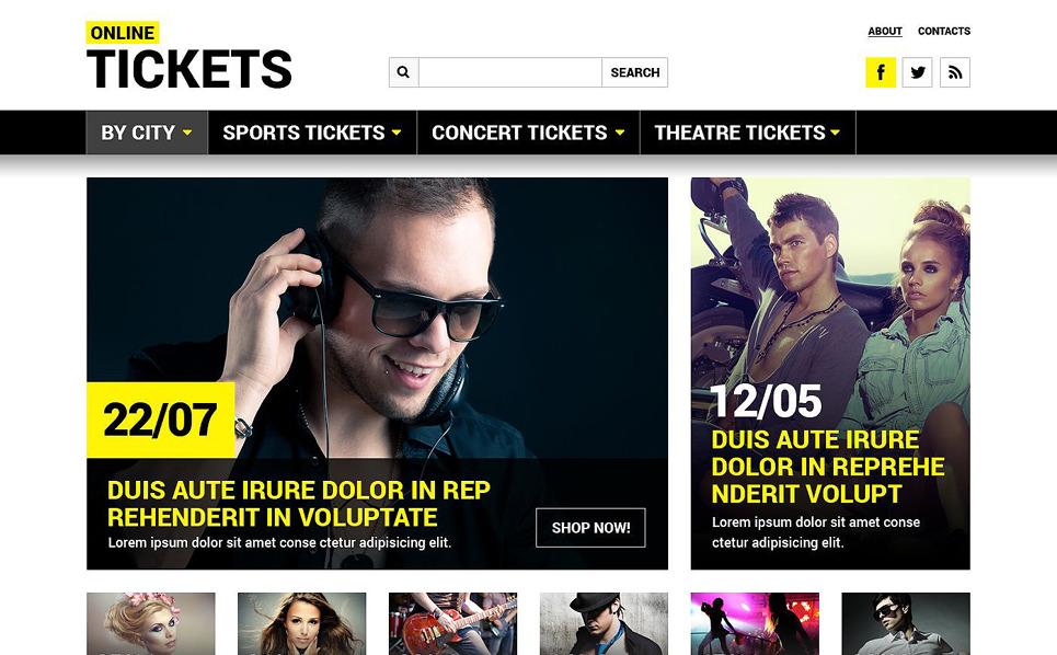 Responzivní Šablona webových stránek na téma Vstupenky New Screenshots BIG