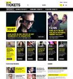 Entertainment Website  Template 52228