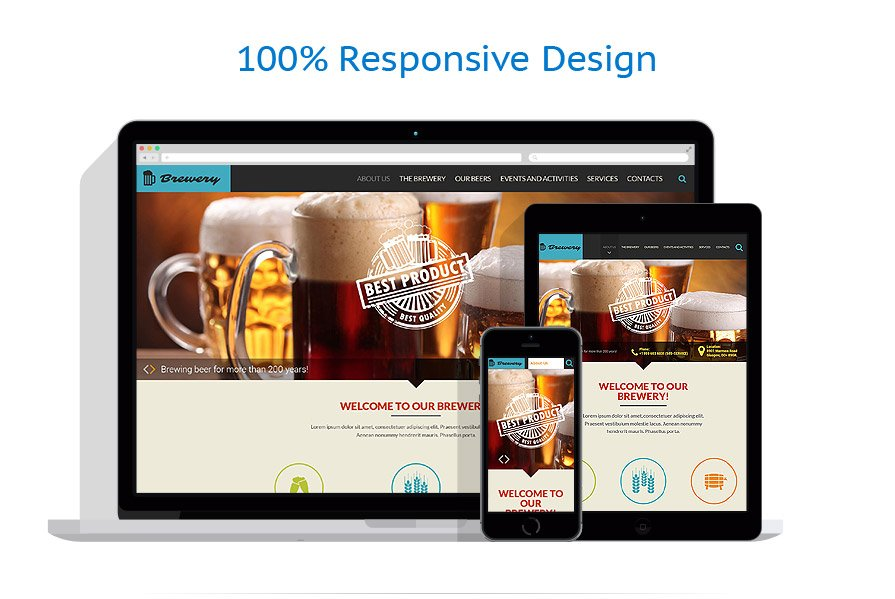 Brewery templates website template 52235 for Brewery layout software