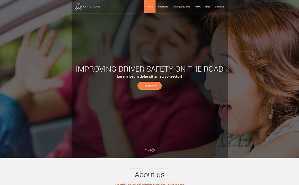 Reszponzív Autósiskolák Weboldal sablon New Screenshots BIG