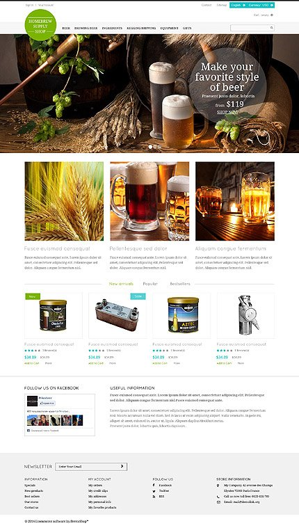 ADOBE Photoshop Template 52246 Home Page Screenshot
