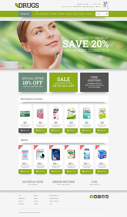 osCommerce Template 52271 Main Page Screenshot