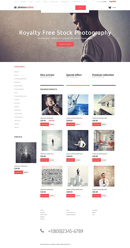 osCommerce Template 52273 Main Page Screenshot