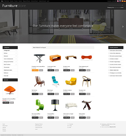 osCommerce Template 52275 Main Page Screenshot