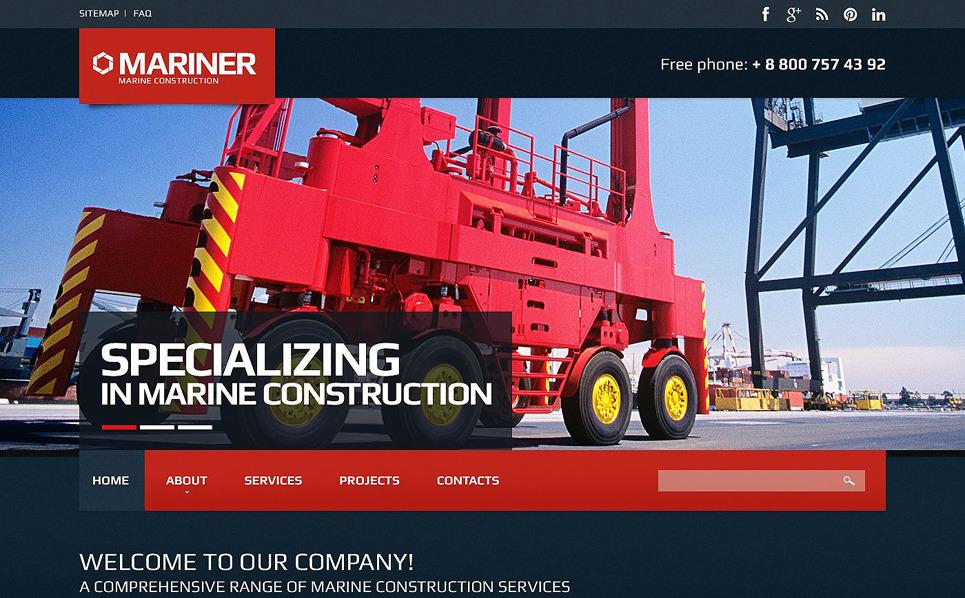 Responsive Website template over Bouwbedrijf New Screenshots BIG