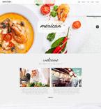 Cafe & Restaurant Website  Template 52291
