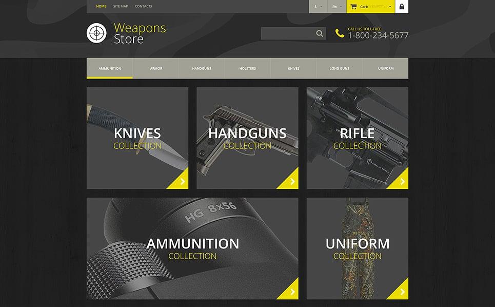 Адаптивний PrestaShop шаблон на тему зброя New Screenshots BIG