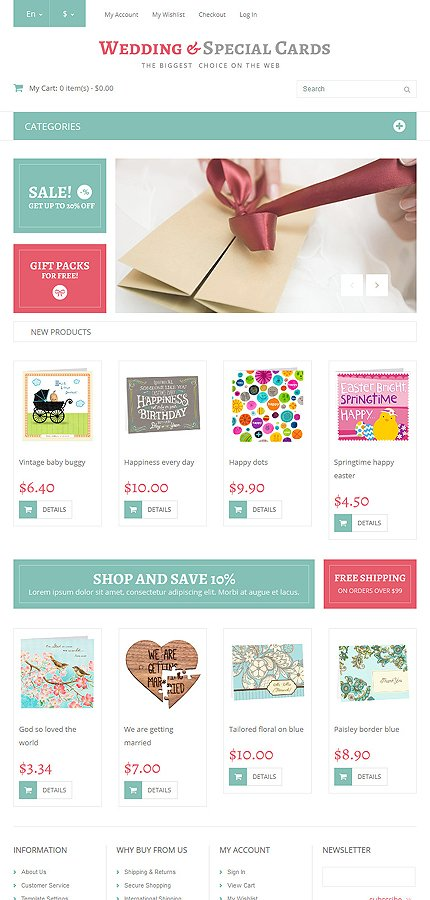 Magento Theme/Template 52299 Main Page Screenshot