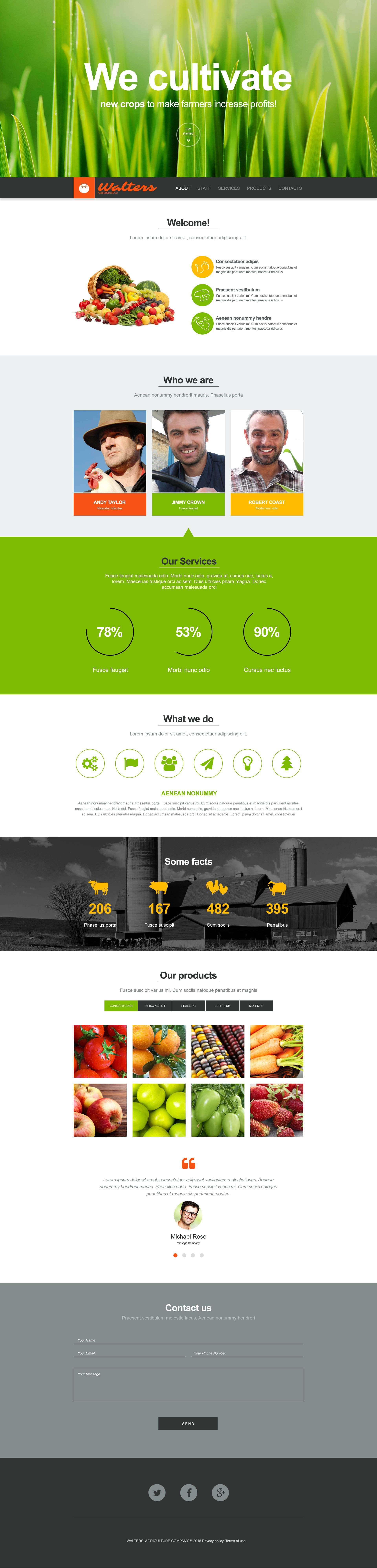 Agriculture Muse Template - screenshot