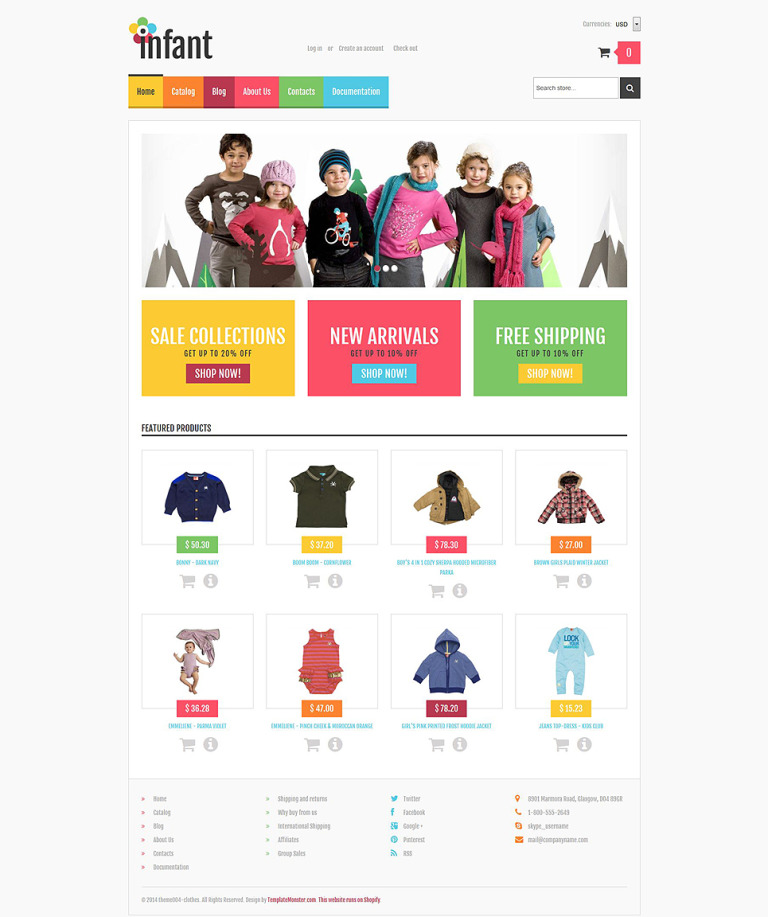 Baby Store Responsive Shopify Theme New Screenshots BIG