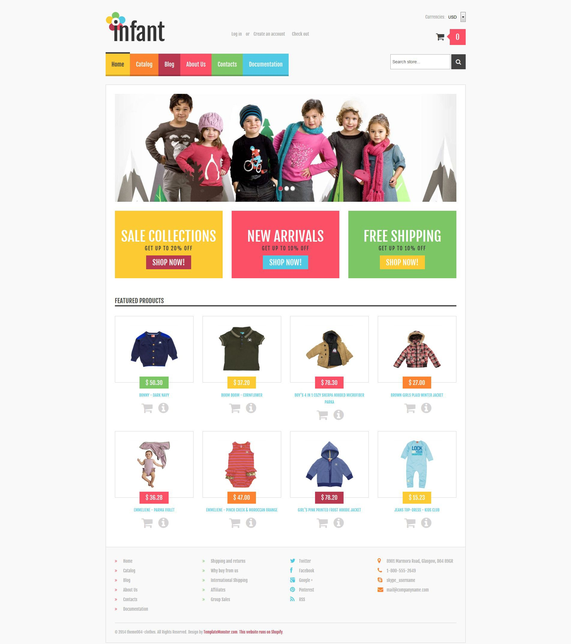 Baby Store Responsive Shopify Theme - Shopify store templates