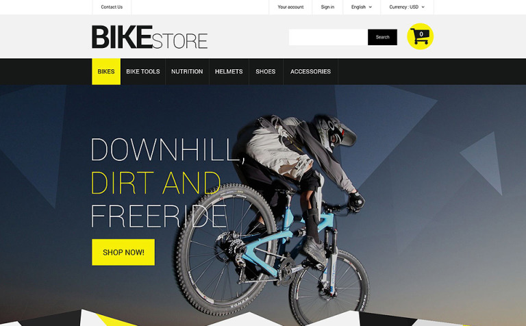 Bike Store Premium PrestaShop Template
