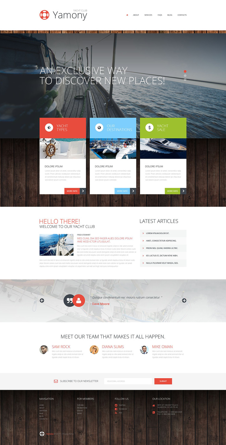Boating WordPress Theme New Screenshots BIG