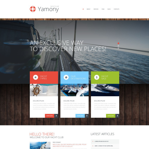 Yamony - WordPress Template based on Bootstrap