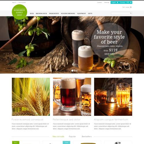 Ingredient Supply Store - Responsive PrestaShop Template