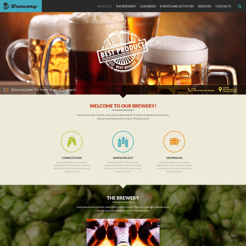 Brewery - Responsive Website Template