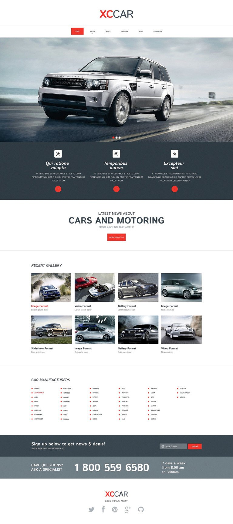 Car Club Responsive Drupal Template New Screenshots BIG