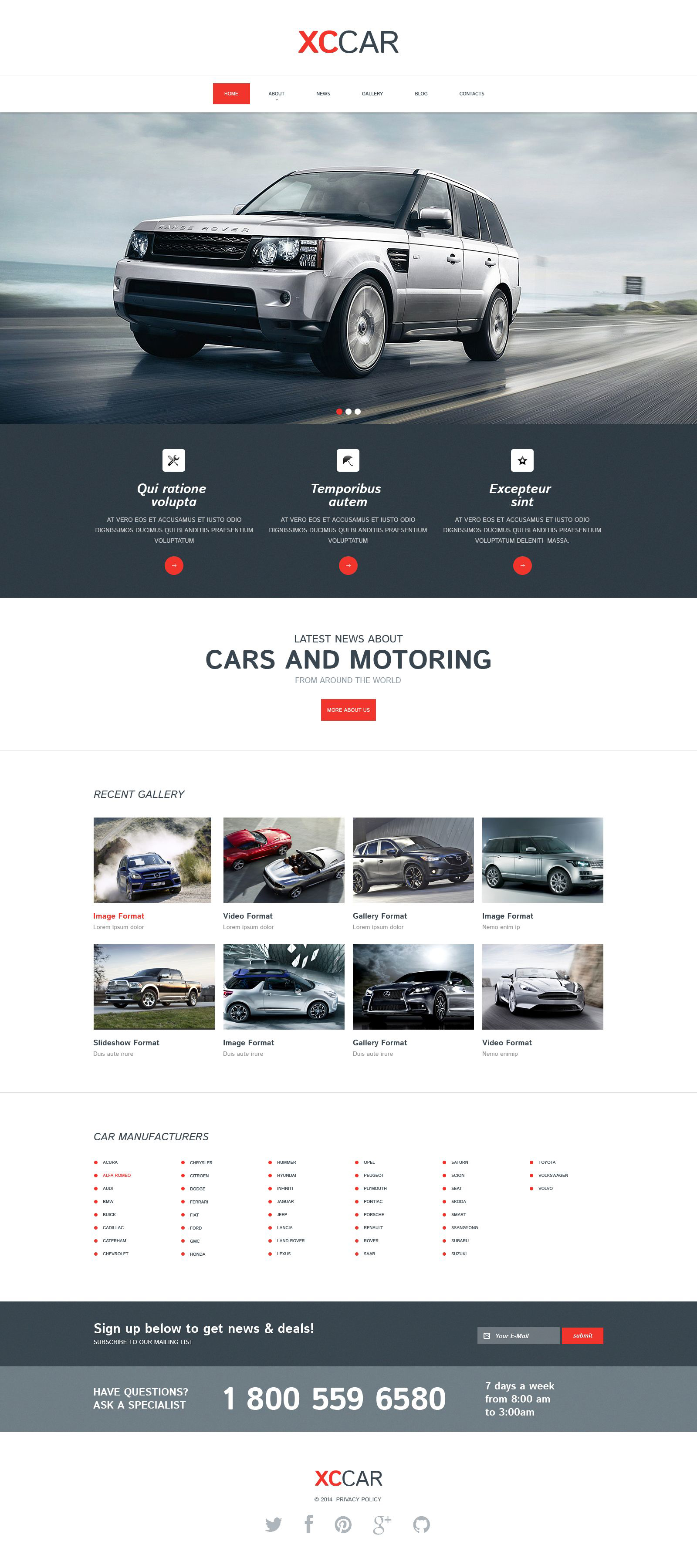 Car Club Responsive Drupal Template - screenshot