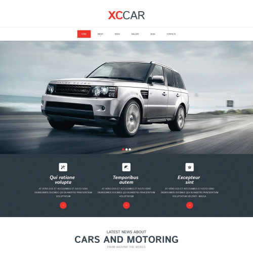 XC Car - Responsive Drupal Template