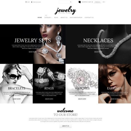Jewelry Online Store - Shopify Template based on Bootstrap
