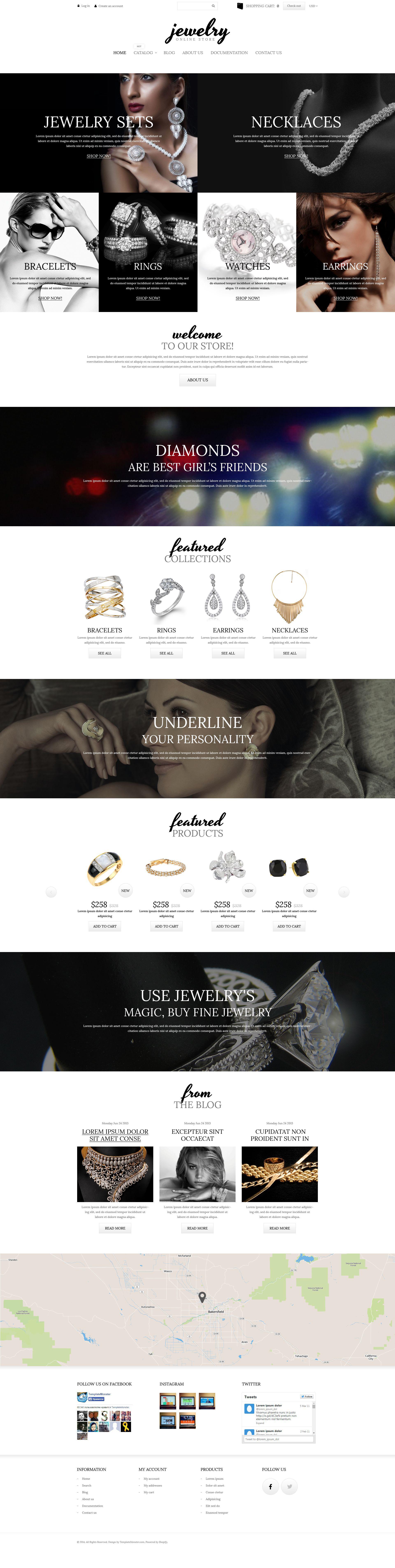 Charming Jewelry Tema de Shopify №52253