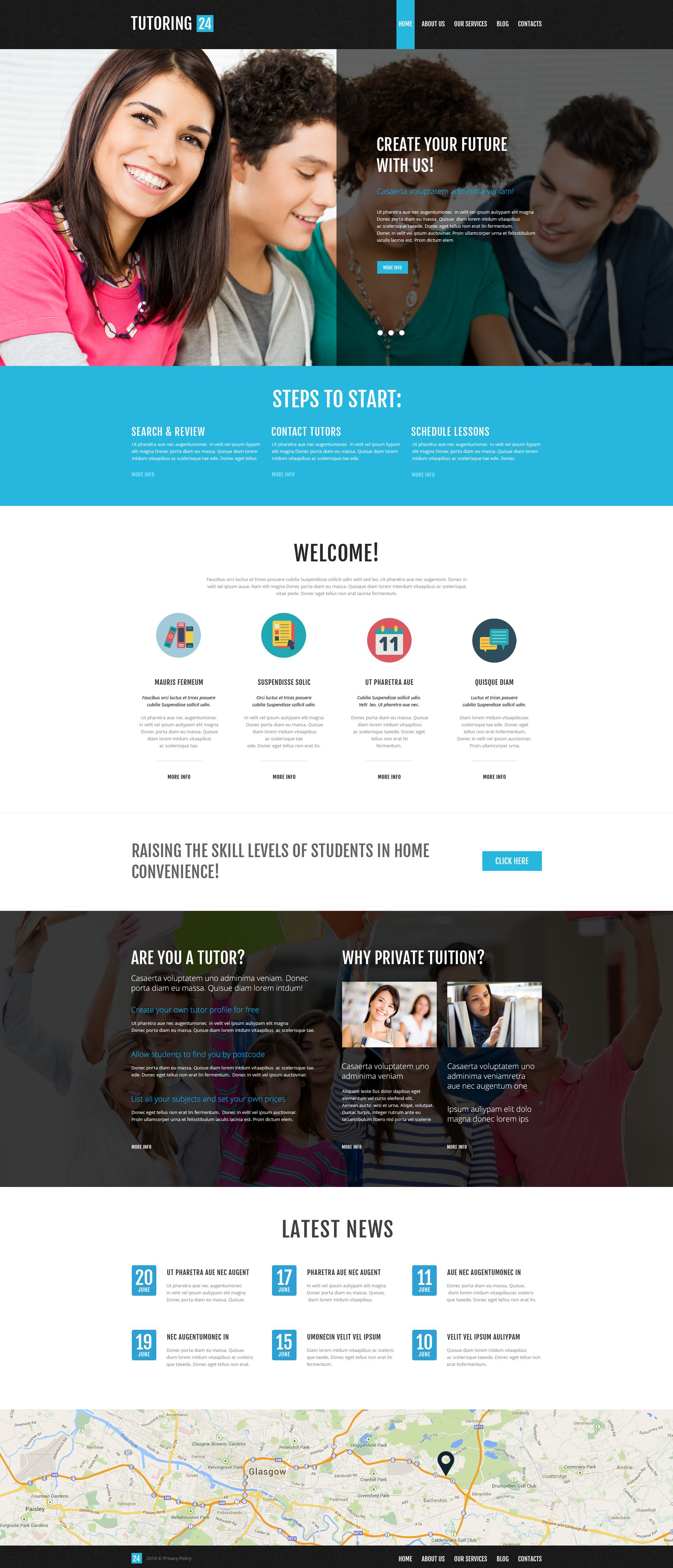 """Education Online"" thème WordPress adaptatif #52267 - screenshot"